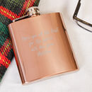 Contemporary Copper Personalised Hip Flask