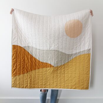 Abstract Desert Modern Quilted Blanket