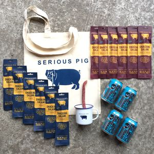 Ultimate Snacking Salami Craft Beer And Mug Gift Set