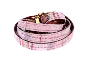 Shetland Wool Leather Dog Collar