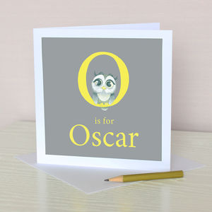 Personalised Alphabet In Acrylic Greeting Card - birthday cards