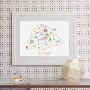Map Of Manchester - drawings & illustrations
