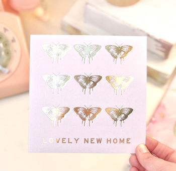 New Home Gold Butterfly Greeting Card
