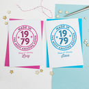 Age Badge Personalised Birthday Card Any Age