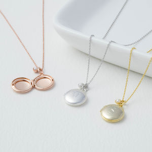 Personalised Initial Mini Locket - necklaces & pendants