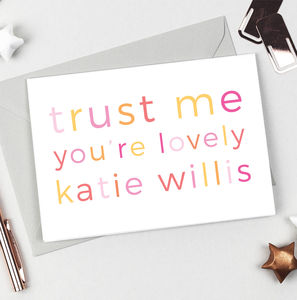 Personalised 'You're Lovely' Valentines Card - winter sale