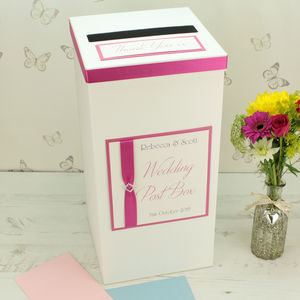 Personalised Titanium Wedding Post Box - room decorations