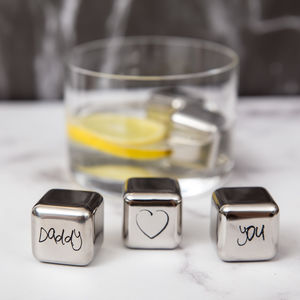 'Daddy Love You' Stainless Steel Ice Cubes
