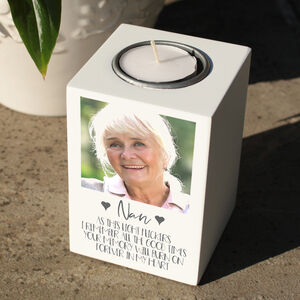 Personalised Photo Memorial Tealight Holder