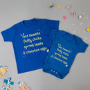 Easter Sibling T Shirt And Babygrow Set