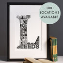 Best Of Leeds Print Graduation Gift