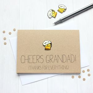 'Cheers Grandad!' Father's Day Thank You Card