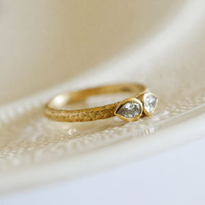 Cats Eye Pear Diamond Engagement Ring - view all fine jewellery