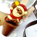 Christmas Boozy Decorated Santa Hot Chocolate Spoon