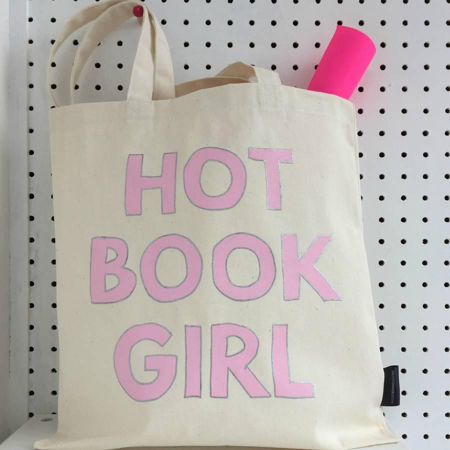 'Hot Book Girl' Book Tote
