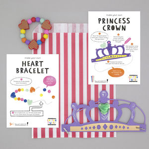 Princess Party Bag With Crown And Bracelet Kits - wedding day activities