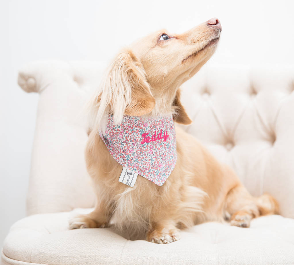 Personalised Pink Liberty Print Neckerchief