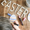 Personalised Decorate Your Own Easter Wooden Bunting