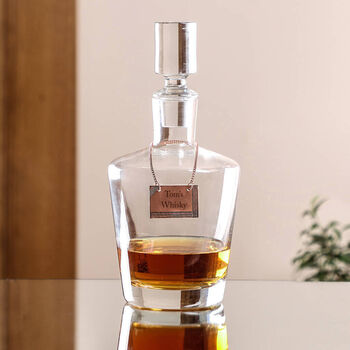 Luxury Whisky Decanter With Personalised Tag