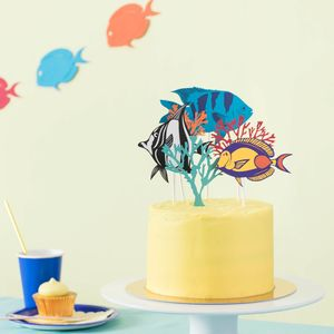 Tropical Fish Cake Topper