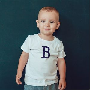 Children's Personalised Flock Initial T Shirt