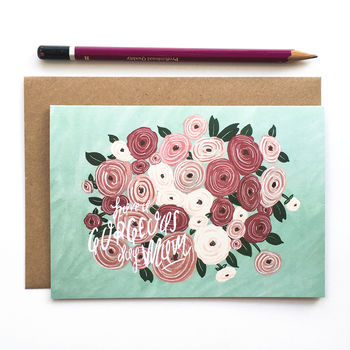 'Spring Flowers' Mother's Day/Birthday Card