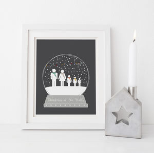 Personalised Snow Globe Family Print