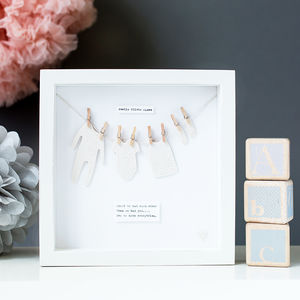 Personalised Ceramic 'Washing Line' Nursery Wall Art - shop by price