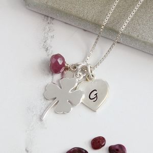 Personalised Good Luck Charm With Birthstones Necklace - jewellery gifts for children