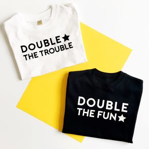 Double Trouble Twin Tee Set - babygrows