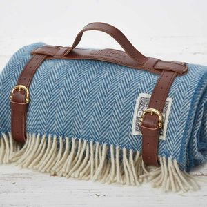Cornish Blue Picnic Blanket - blankets & throws