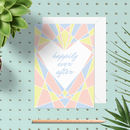 Art Deco Heart 'Happily Ever After' Wedding Card