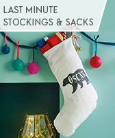 last minute christmas stockings & sacks