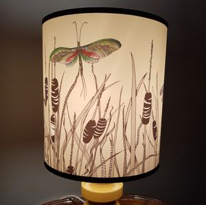 Bulrushes Hand Illustrated Lampshade - lamp bases & shades