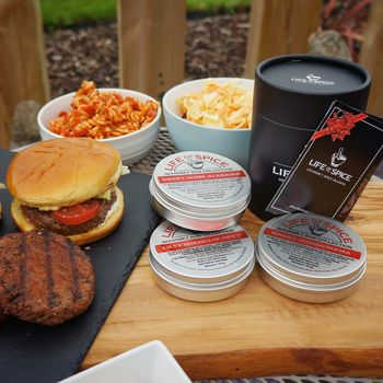 Brilliant With Burgers! Four BBQ Rubs Gift Set