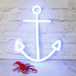 Neon Light Up Anchor - children's room