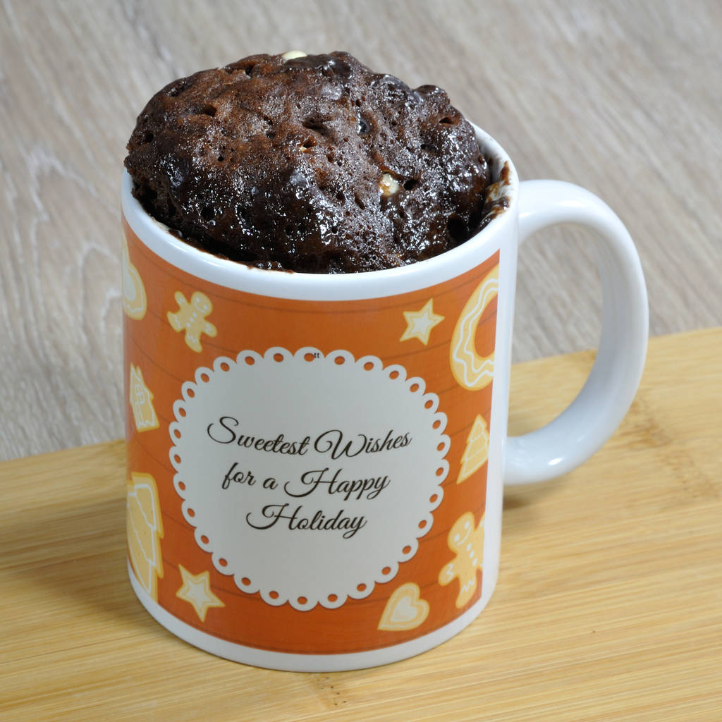 'happy Holiday' Mug Cake Kit By Lily Grace Baking Gifts