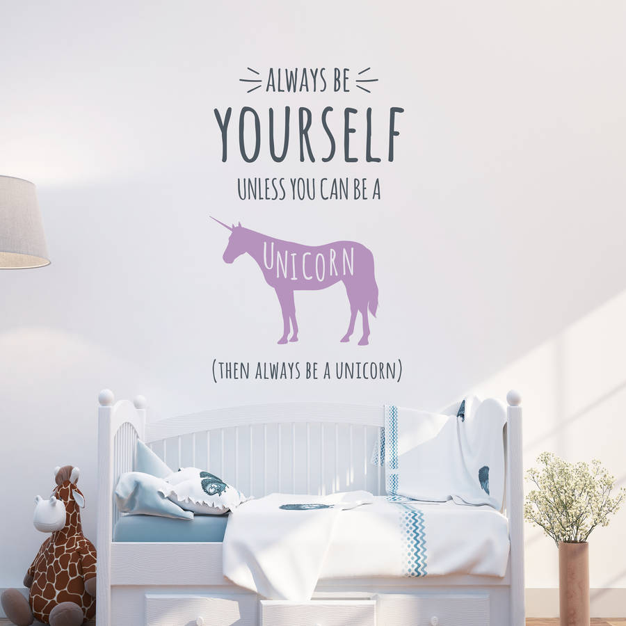 Awesome Always Be A Unicorn Wall Stickers