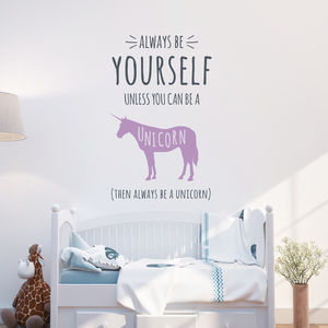 Always Be A Unicorn Wall Stickers - decorative accessories