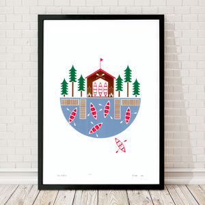 'Lake Boathouse' Ltd Edition Silkscreen Print