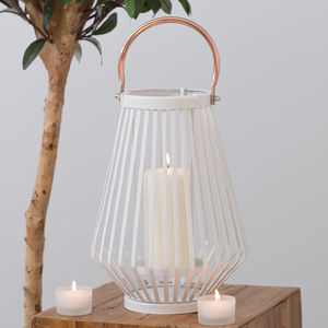 Hurricane Candle Lantern White Or Black Two Colours