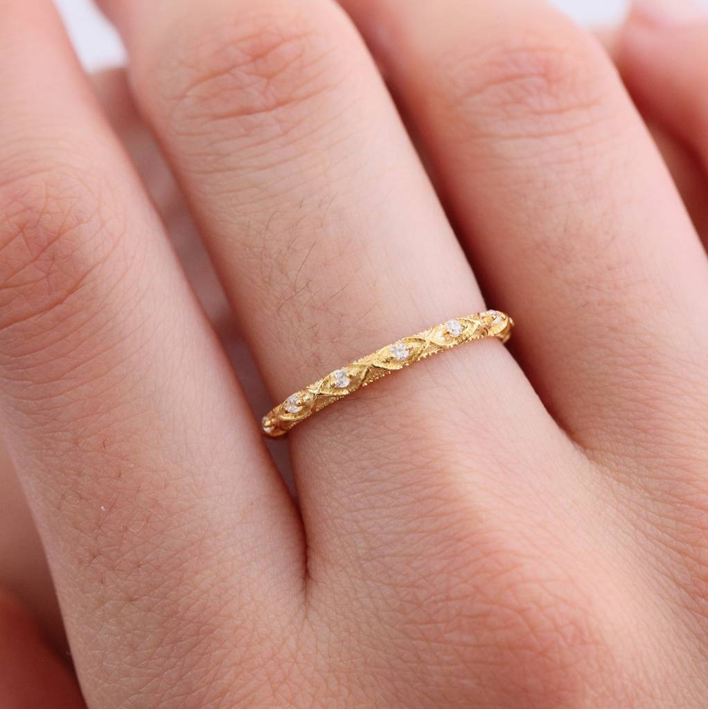 gold plated limited edition stone decorated ring by attic ...