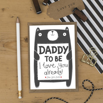 Daddy To Be Birthday Day Card From The Bump