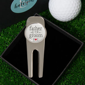 Personalised Father Of The Groom Golf Divot Repair Tool