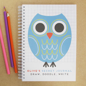 Personalised Kids Diary Owl