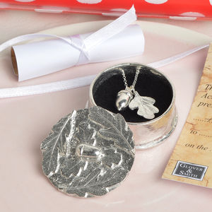 Christening Necklace In A 'From Little Acorns' Box