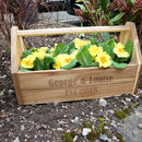 Personalised Name Allotment Flower Crate Box