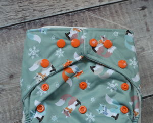 Frosty Foxes Reusable Nappy