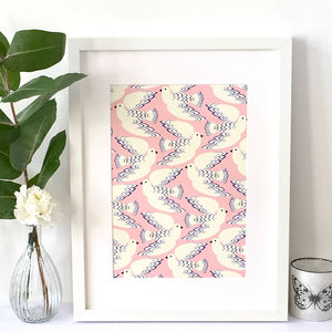 Powder Pink Dove Art Print, Wall Art - posters & prints