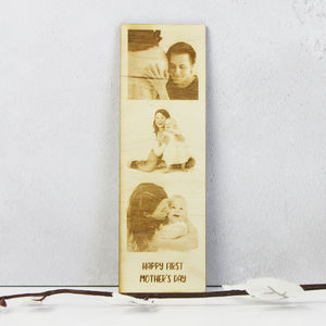 Personalsied Photo Booth Wooden Print